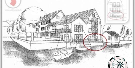 SUPRA 3 ½ Zimmerwohnung direkt am See im Erdgeschoss mit Cheminée
